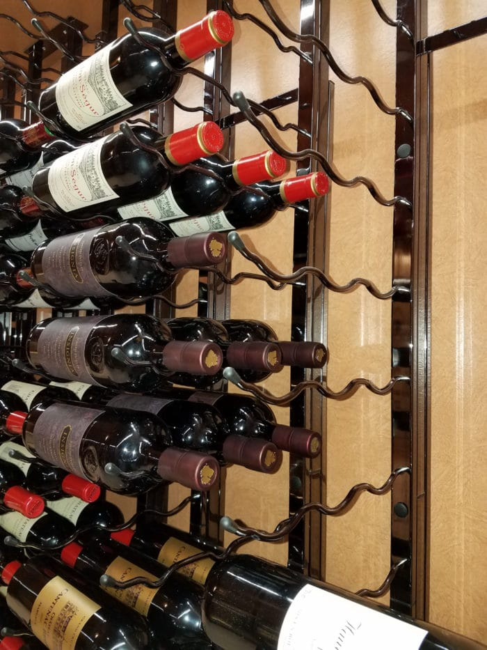 Triple Deep Metal Wine Racks by VintageView