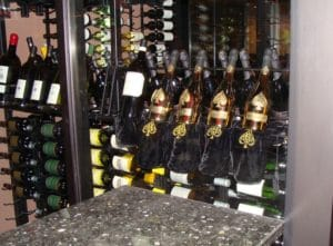 Commercial wine cellar in a restaurant in Los Angeles.