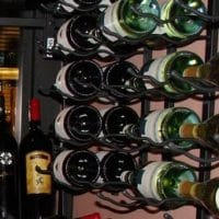 Metal wine racks.