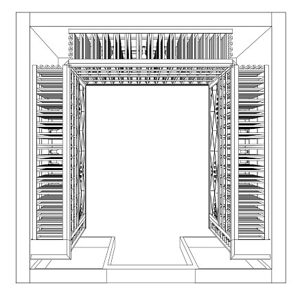 Top View of the 3D Drawing of the Completed Home Wine Cellar