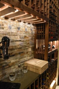 65 - Wine Cellar Lighting Highlighting Stemware