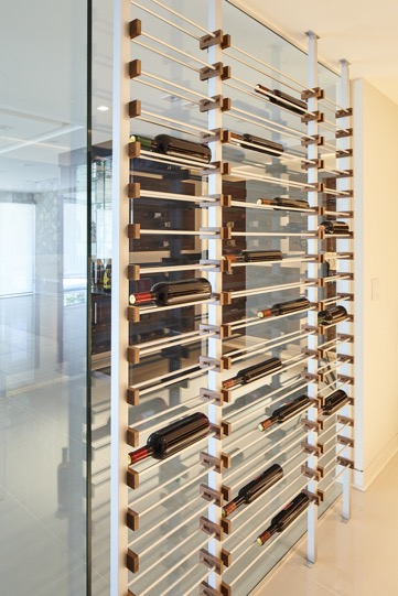 Contemporary Label Forward Millesime Wine Racks Los Angeles Builders