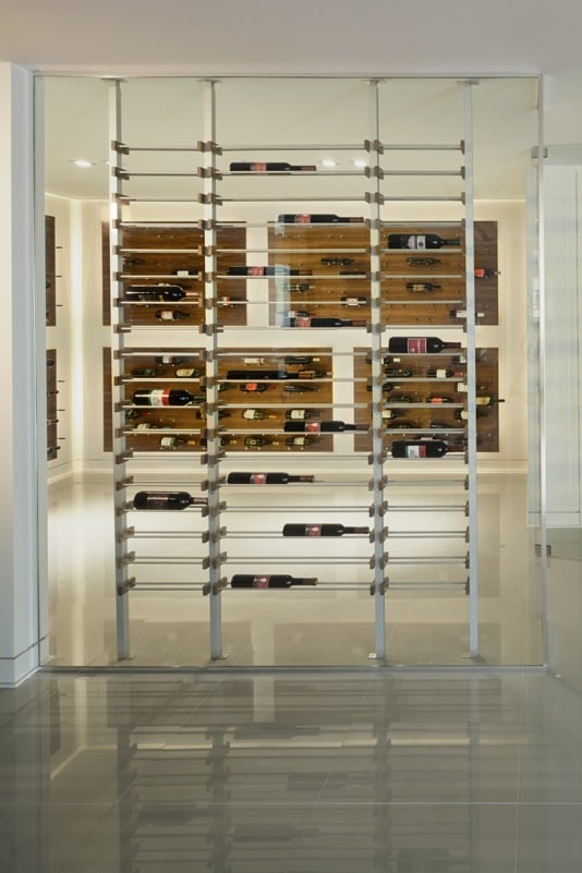 Contemporary Millesime and Peg Wine Racks Home Wine Cellar Los Angeles