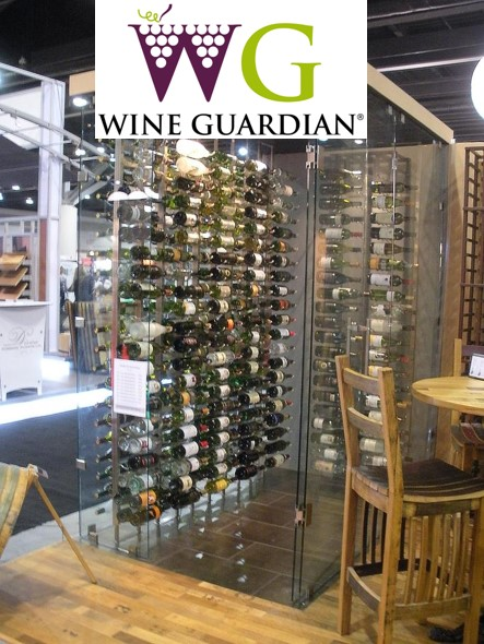 Custom Wine Cellar wit a Wine Guardian Cooling Unit Installed by Los Angeles Experts