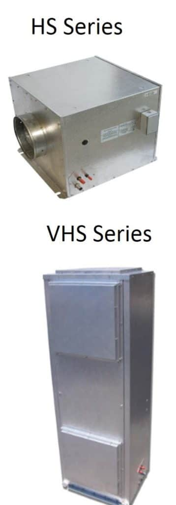 Ducted Wine Cellar Cooling Units: HS and VHS Series