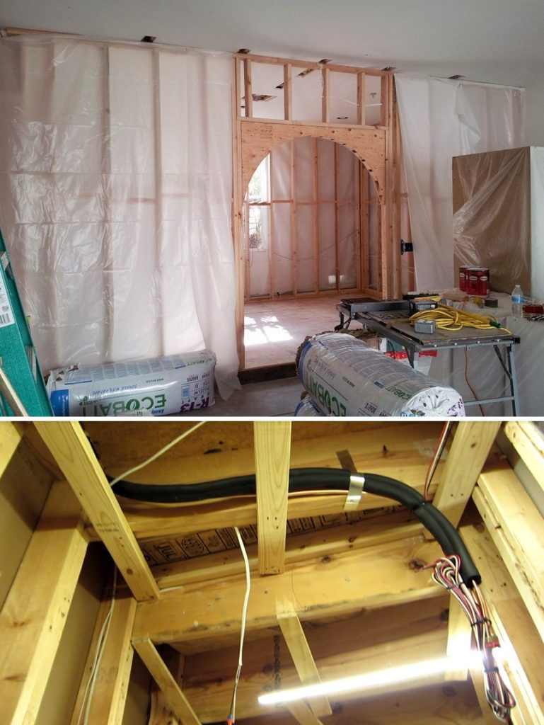 Room Preparation Before Wine Cellar Cooling Unit Installation in a Los Angeles Residential Wine Room