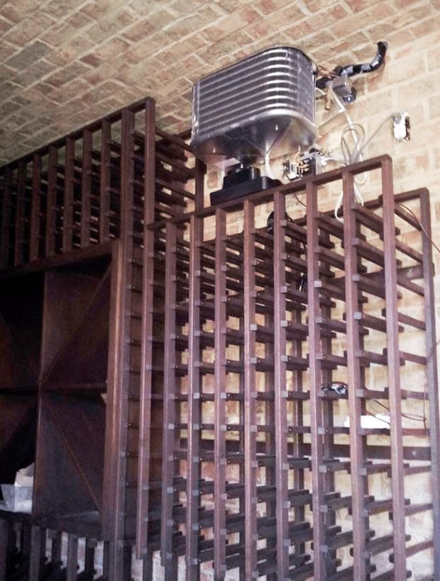 Split Type Wine Cellar Cooling Unit Installation Project in Los Angeles