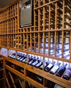Through the Wall Wine Cellar Cooling Unit Installed by Los Angeles Experts