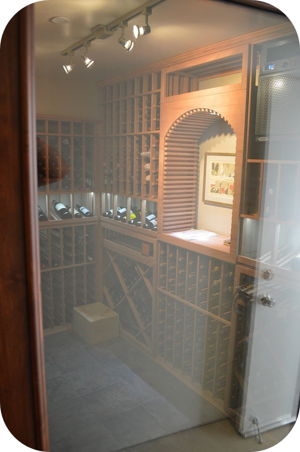 CellarPro Wine Cooling Unit Installed in a Custom Home Wine Cellar by a Los Angeles Specialist