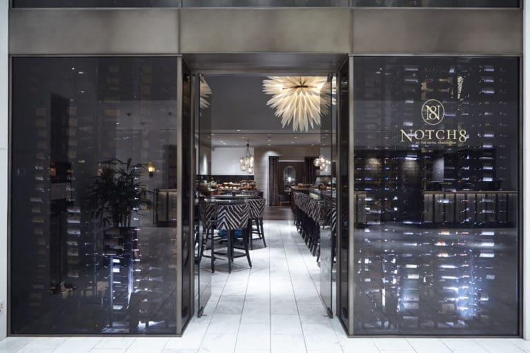 Commercial Custom Wine Cellar with Contemporary Racking