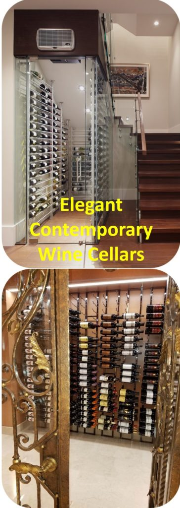 Elegant Contemporary Wine Cellars