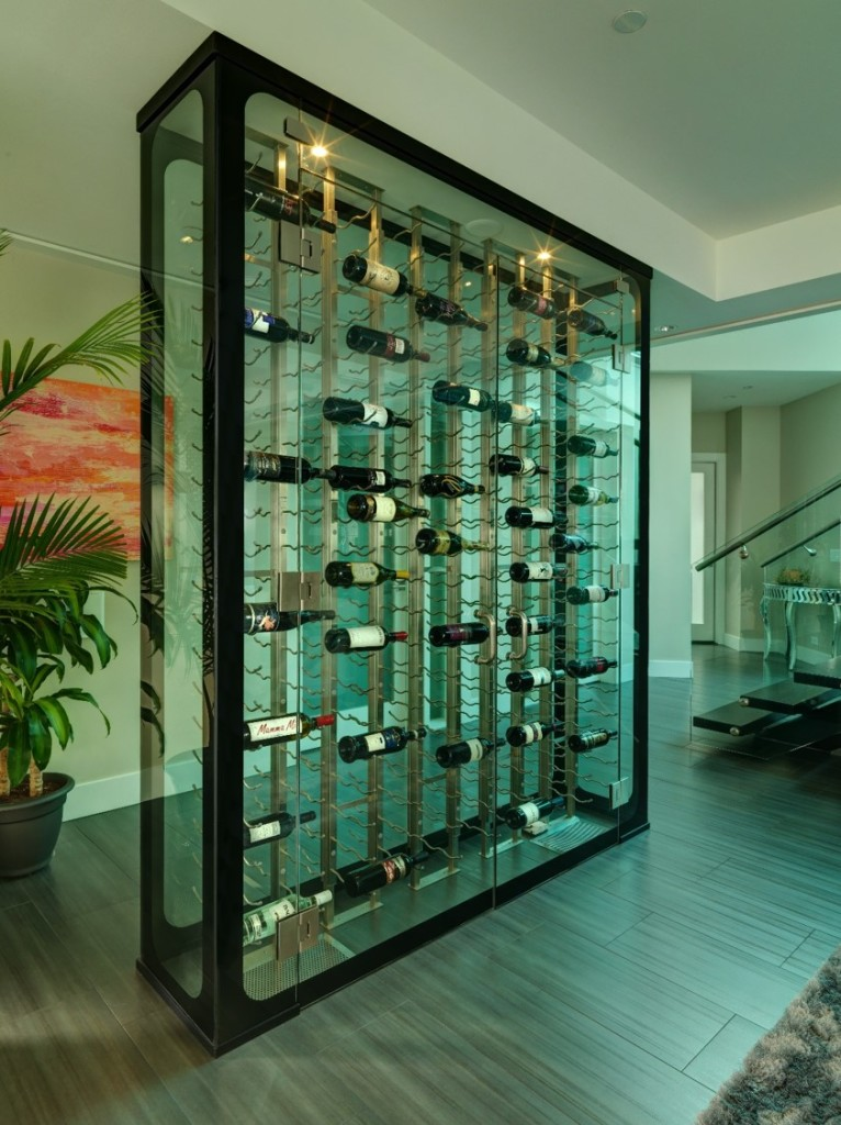 Glass-Enclosed Residential Custom Wine Room