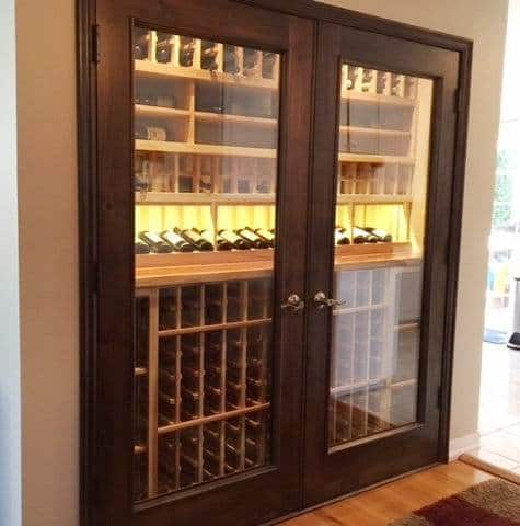Los Angeles Custom Home Wine Cellar Installed with a CellarPro Refrigeration Unit