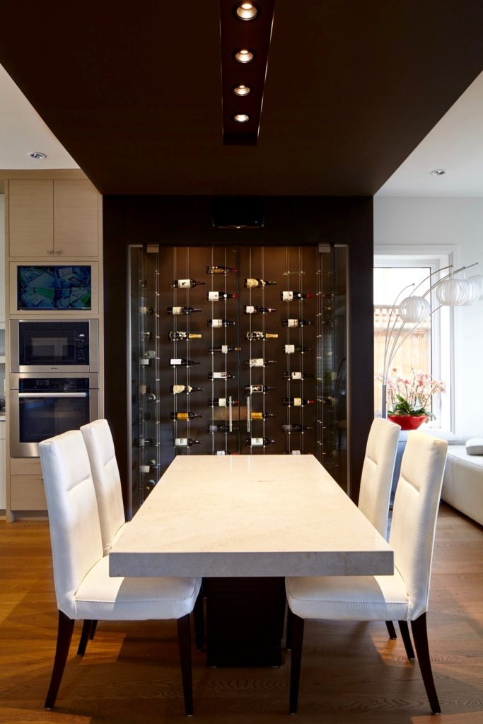Modern Glass Wine Cellar Designed by Top-Notch Los Angeles Installers