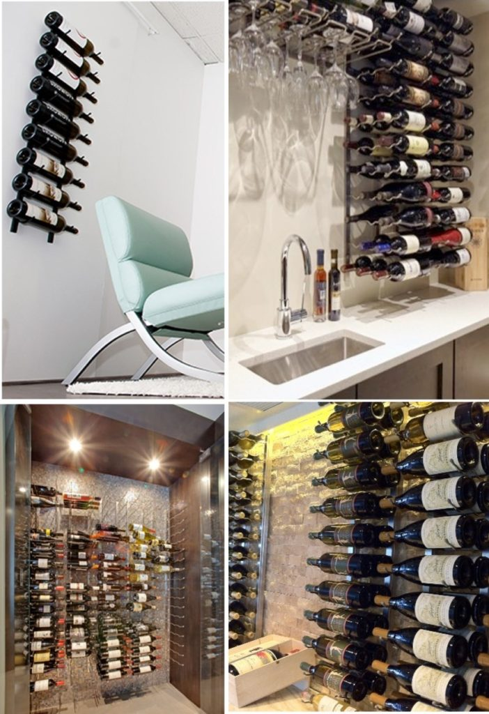 VintageView Wall-Mounted Contemporary Wine Cellar Racks