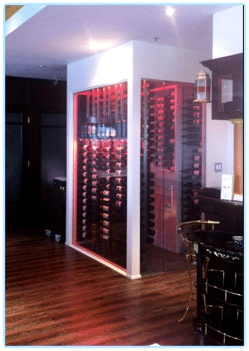 An Attractive Commercial Wine Cellar Display