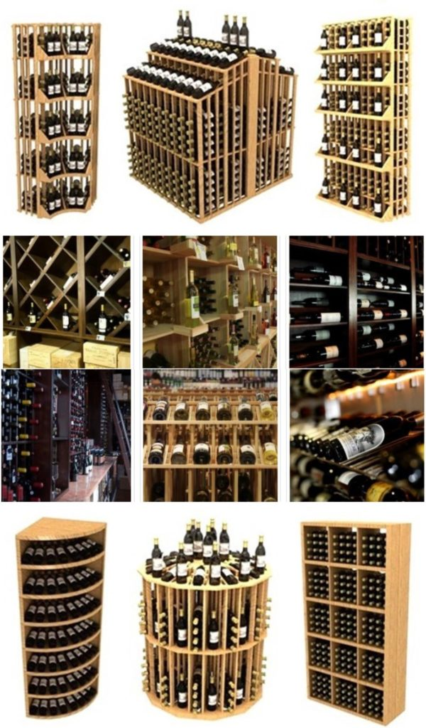 Commercial Wine Racks Made from High Grade Wood Species
