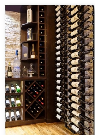 Captivating Small Basement Home Wine Cellar Built by Experts in Los Angeles