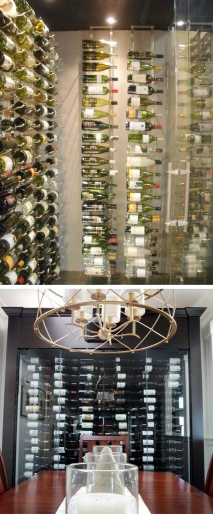 VintageView Metal Wine Racks for a Modern Wine Room design
