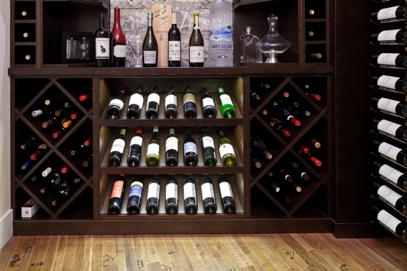 Wine Rack System for a Small Basement Wine Cellar Created by Wine Room Design Specialists
