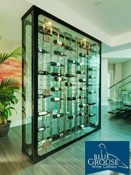 Aquarium-Like Glass Wine Room