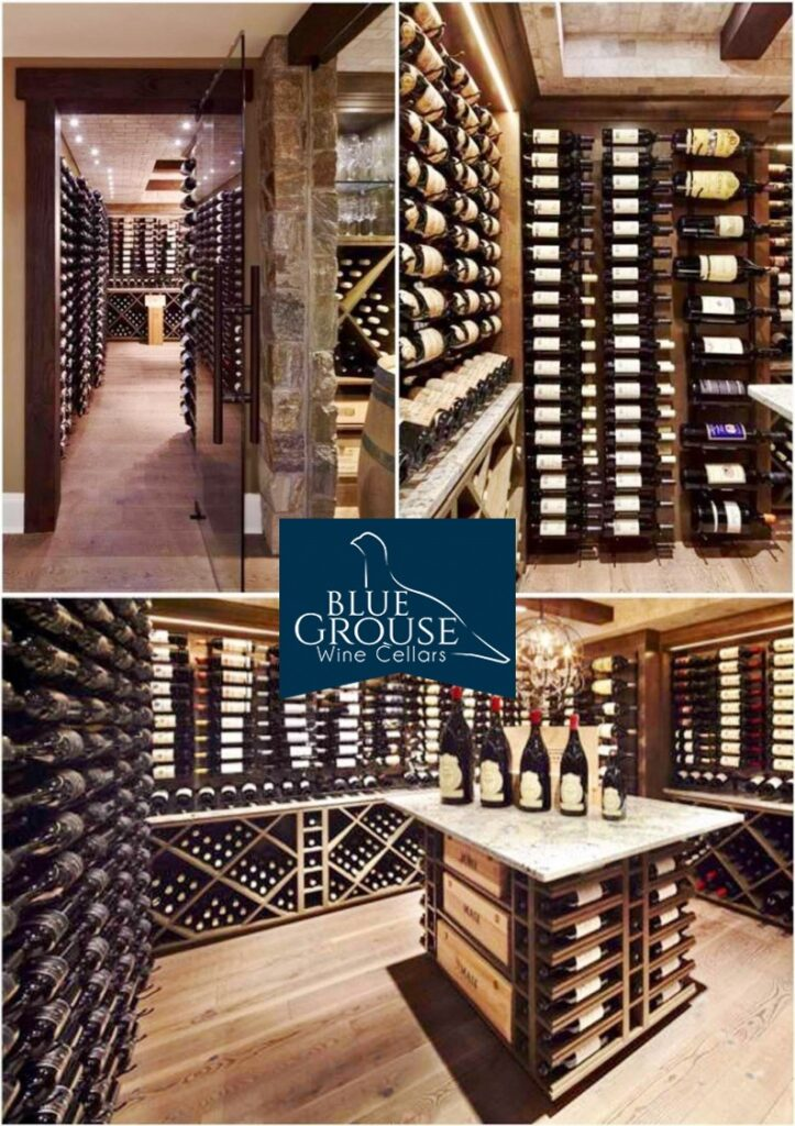 Custom Wine Cellar Built in a Home with Metal and Wood Custom Wine Racks