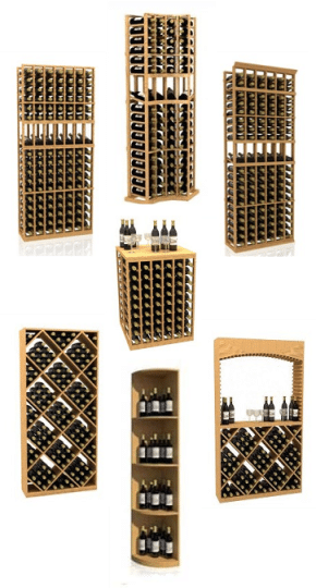 Wood Kit Wine Racks for Residential Wine Cellars
