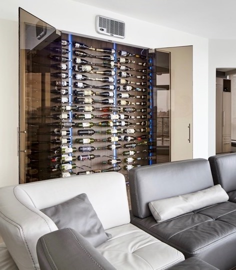 Contemporary Wine Racks Designed with Elegance by a Wine Room Specialist