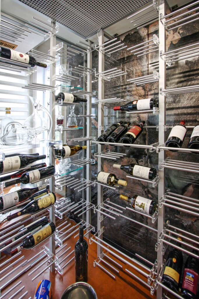 VintageView Contemporary Metal Wine Racks for Your Home Wine Cellar