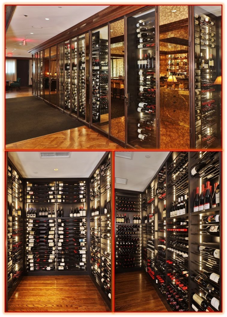 Commercial Wine Cellar with Contemporary Wine Racks Designed by an Expert Wine Cellar Builder