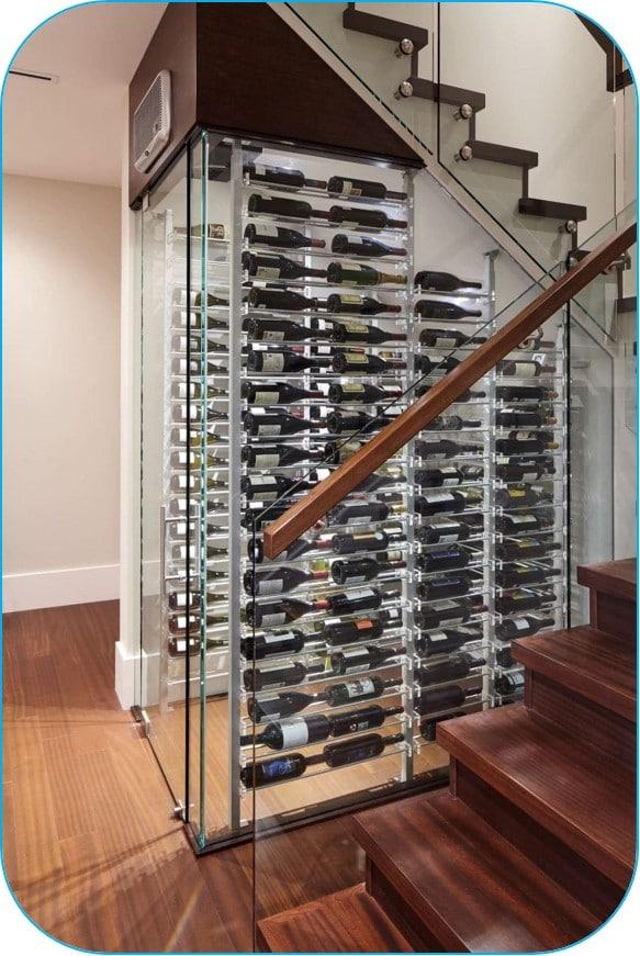 Modern Wine Room with Millesime Wine Racks