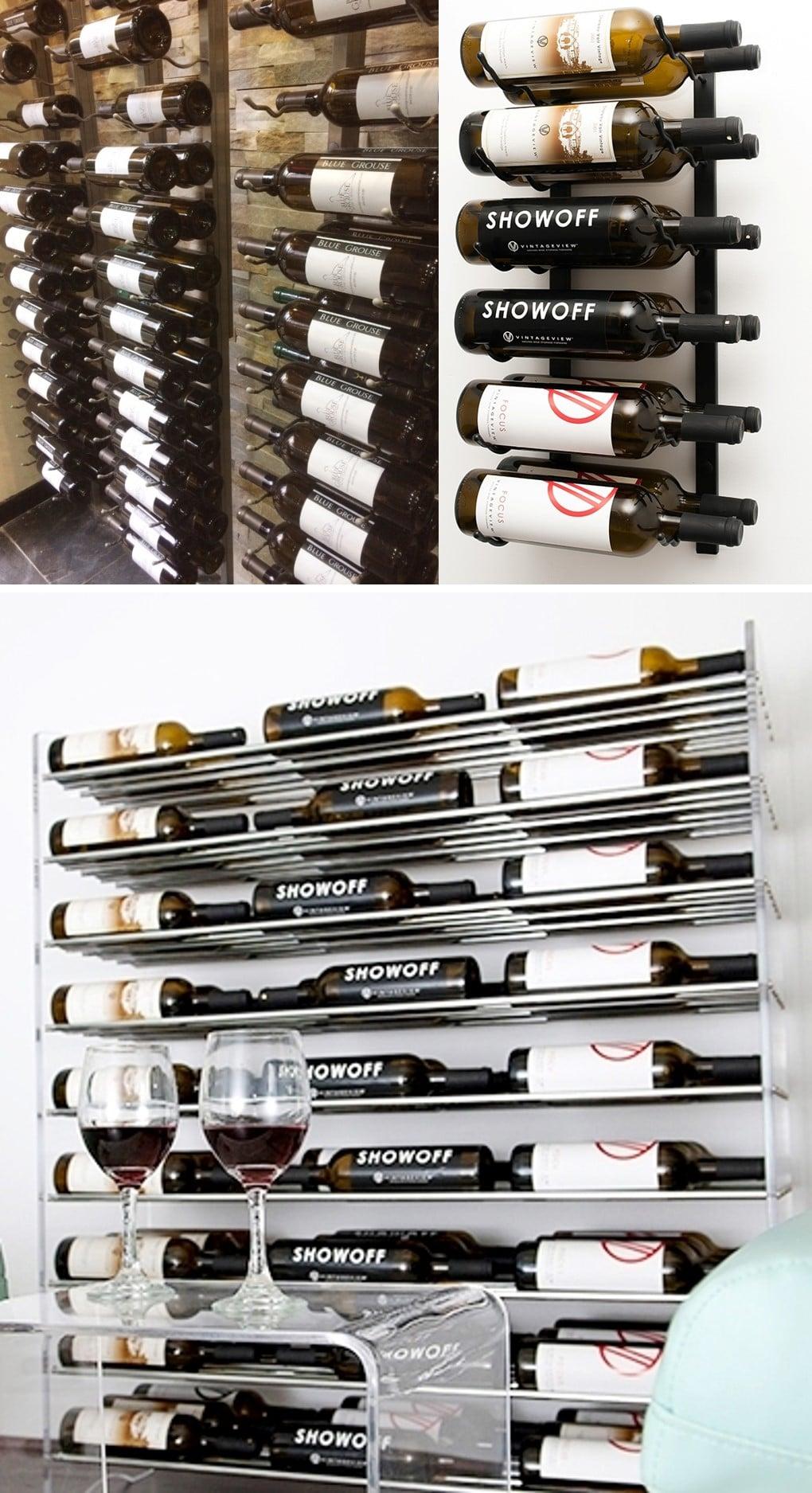 VintageView Contemporary Home Wine Cellar Racks Look Elegant