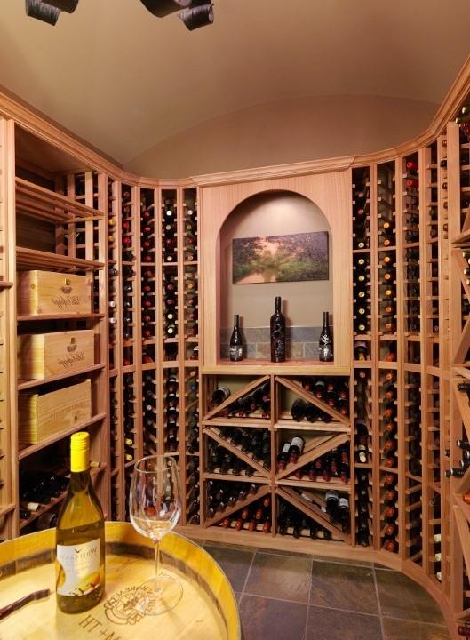 Wood Wine Racks Designed for a Home Wine Cellar