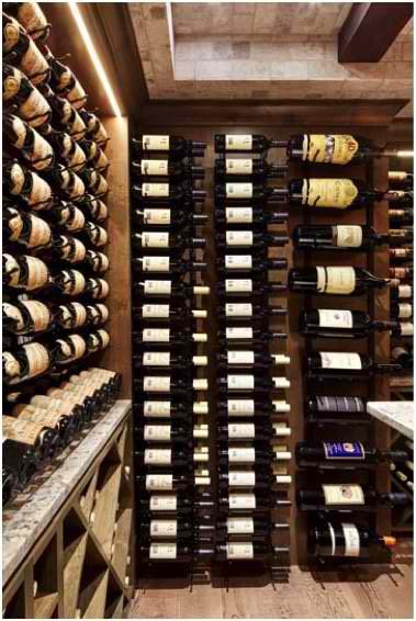 Floor to Ceiling VintageView Metal Wine Racks