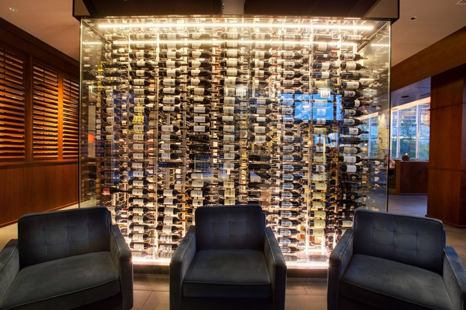 Glass Commercial Wine Cellar Created by an Expert Wine Cellar Builder