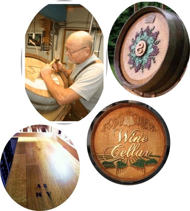 Wine Barrel Art and Taletop
