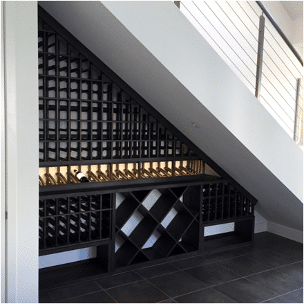 Under the Stairs Home Wine Cellar