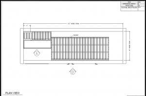 3D drawing wine cellar plan