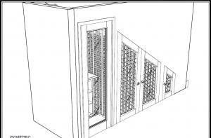 3d wine cellar drawing construction design california