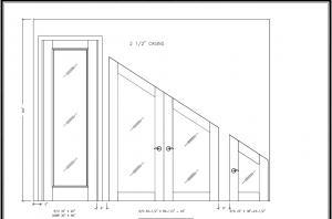 wine cellar design drawing glass door plan