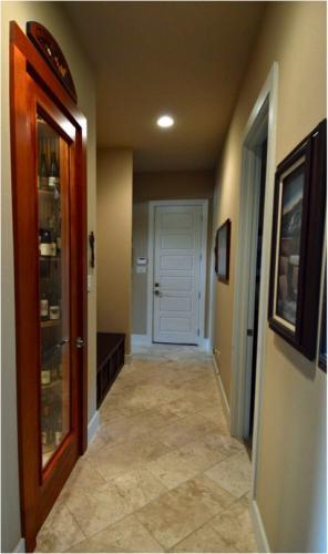 Elegant Wood and Glass Wine Cellar Door Texas Project