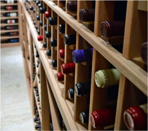 Wooden Wine Racks Home Wine Cellar Project Texas
