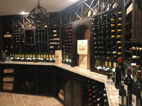 california wine cellar basement storage