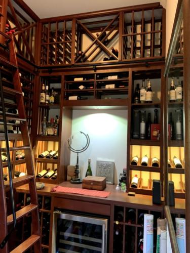display nook traditional los angeles wine closet