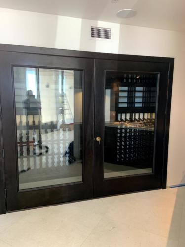 glass doors los angeles wine cellar