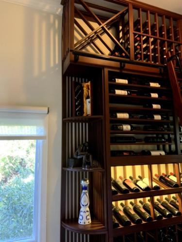 traditional los angeles wine closet art display