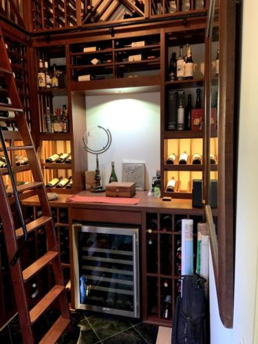 traditional wine closet decor