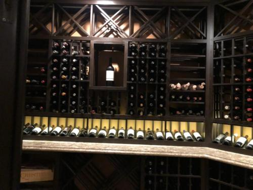 wooden wine rack basement wine cellar los angeles